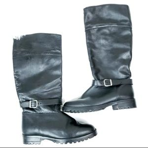 La Canadienne Lined Tall Leather Engineer …
